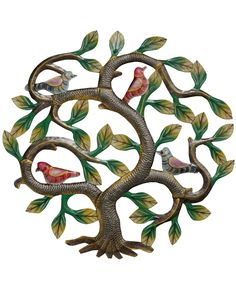 Fair trade metal art featuring the Tree of Life symbol lovingly hand crafted by Haitian artisans in the tradition of Haitian metal art.