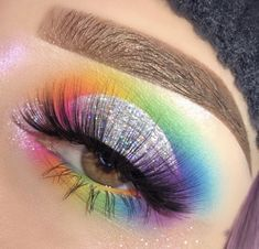 Makeup Tutorial Eyeshadow Blending, Makeup How To; Eye Makeup Step By Step Pictures even Best Natural Makeup Eyeshadow my Indian Eyeshadow Makeup Tutorial Makeup Eye Looks, Eye Makeup Art, Colorful Eye Makeup, Crazy Makeup, Cute Makeup, Eyeshadow Makeup, Eyeliner, Eyeshadows, Makeup Set