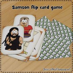 Judges 13-16: Samson; Samson Pair Flip Cards #jesuswithoutlanguage