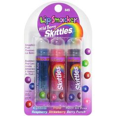 Lip Smacker: Smoothing Fruit Flavored Lip Balm Wild Berry Skittles