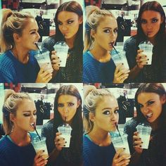 the most perfect friends pic. EVER!! Haha @Elise hanson us and our love for our coffee = P