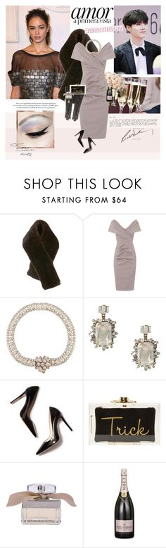 """""""Those devil lips that know so well the art of lying and though I see the danger, still the flame grows higher"""" by maybones ❤ liked on Polyvore featuring Talbot Runhof, Rick Owens, Miu Miu, DANNIJO, M. Gemi, Charlotte Olympia, Chloé, MoÃ«t & Chandon and Sur La Table"""