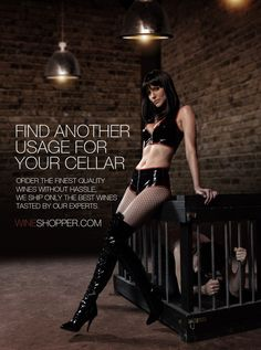 Idea for a awareness campaign related to a Online Wine Delivery company Awareness Campaign, Wine Delivery, Cellar, Leather Pants, Leather Jogger Pants, Lederhosen, Leather Leggings