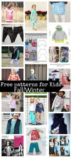 20 free sewing patterns for kids fall/winter - Sew up all kinds of wonderful…