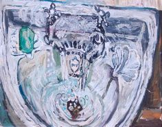 Basin with Green Soap by John BRATBY
