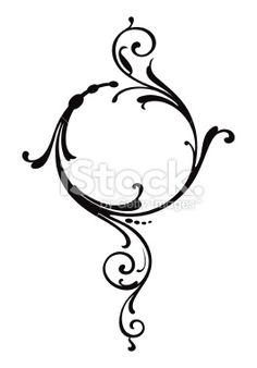 Scroll Pattern Royalty Free Stock Vector Art Illustration (I designed a necklace that looked a lot like this a long time ago) Stencils, Scroll Pattern, Clip Art, Pinstriping, Scroll Design, Motif Floral, Swirl Design, Free Vector Art, Henna Designs