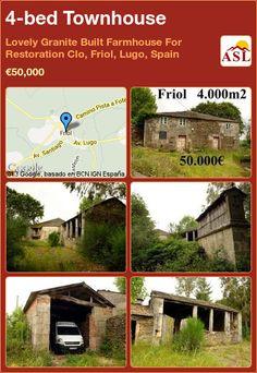 4-bed Townhouse in Lovely Granite Built Farmhouse For Restoration Clo, Friol, Lugo, Spain ►€50,000 #PropertyForSaleInSpain