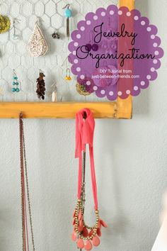 DIY-Easy-Jewelry-Organization. About $2 to make!