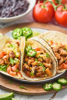 Easy Dinner Recipes, Great Recipes, Easy Meals, Favorite Recipes, Easy Recipes, Chicken Taco Recipes, Chicken Tacos, Mexican Dishes, Mexican Food Recipes