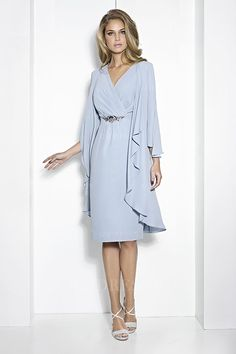 a35a19951af Sheath Column V-neck Knee-length Jersey Mother of the Bride Dress Mother