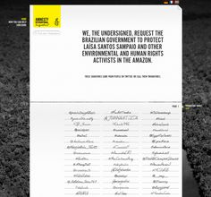 AMNESTY INTERNATIONAL – TWITTER SIGNATURE