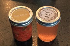 homemade salsa and peach jelly as hostess gifts