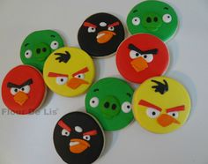 Angry Bird Cookies, by Flour De Lis