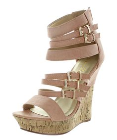 9077d7accb10 Look at this  zulilyfind! Pink Ada Wedge Sandal by Spirit Moda  zulilyfinds  Wedge