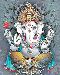 Elephant God: Mysteries, Mythology, Birth and Life Story Ganesha Drawing, Lord Ganesha Paintings, Ganesh Chaturthi Decoration, Happy Ganesh Chaturthi, Ganesha Tattoo Lotus, Lotus Tattoo, Tattoo Ink, Ganesha Pictures, Ganesh Images