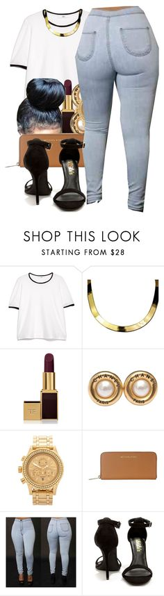 """""""j.cole intro"""" by thaofficialtrillqueen ❤ liked on Polyvore featuring MANGO, ASAP, Tom Ford, Chanel, Nixon, Michael Kors and LULUS"""