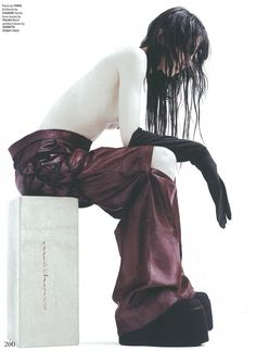 Jamie Bochert Photographed by Willy Vanderperre and styled by Charlotte Stockdale for GARAGE Magazine FALL/WINTER 2014