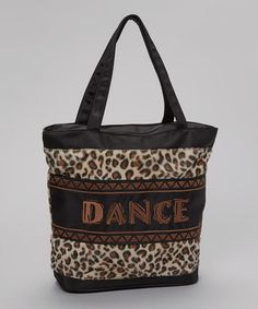 Love this Tan & Black Leopard 'Dance' Tote on #zulily! #zulilyfinds...need a wants to get back into dance this fall