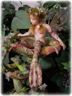 Frog Princess One of a Kind Art Doll by Vicci Noel