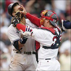 In Yo Face! Red Sox captain Jason Varitek vs. #Yankees' Alex Rodriguez.
