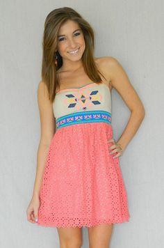 Azteca Dress | Girly Girl Boutique