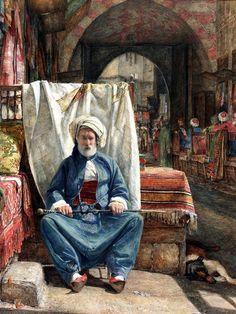 Lord Frederick Leighton - Courtyard of a Mosque at Bursa 1867