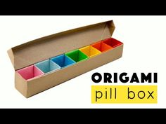 Origami Pill Box / Organizer Tutorial - YouTube