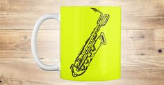 Discover Baritone Saxophone (Mug) Mug from Anderson Surreal Graphics only on Teespring - Free Returns and 100% Guarantee - The noble and powerful baritone saxophone as...