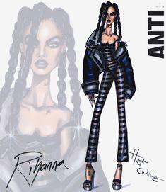 Hayden Williams Fashion Illustrations   Rihanna ANTI collection by Hayden Williams: Look 3