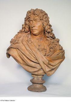 Antoine Coysevox (1640 - 1720)  Charles Le Brun  France  c. 1676   Bust  Terracotta