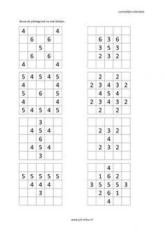Werkbladen - ruimtelijke orientatie - plattegrond ~ Juf Milou Preschool Math, Kindergarten Math, Computer Coding, Busy Boxes, Maths Puzzles, Brain Training Games, Daycare Crafts, Teachers' Day, Math Concepts