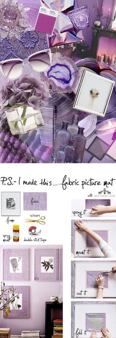 P.S.- I made this...Fabric Picture Mat with @onekingslane