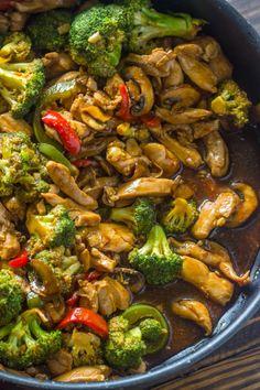 20 Minute Chicken Broccoli & Mushroom Stir-Fry | Gimme Delicious