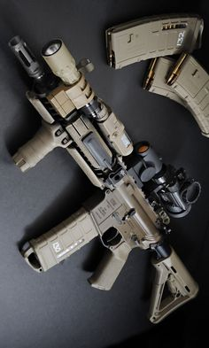 Build Your Sick Custom Assault Rifle Firearm With This Web Interactive Firearm Gun Builder with ALL the Industry Parts - See it yourself before you buy any parts Aegis Gears Military Weapons, Weapons Guns, Guns And Ammo, Tactical Rifles, Firearms, Tactical Survival, Shotguns, M4 Carbine, Armas Ninja