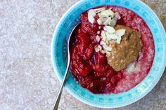 Almond and Plum Quinoa Porridge
