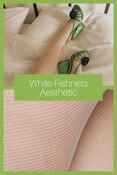 Discover our fishnet tights, lightweight and silky smooth on your leg, available in black, ivory and caramel. Here are the reasons why you'll love Elvira: - Net tights - Sew on - Soft waistband - Toe reinforcements - Cotton gusset - 100% emission free tights - Knitted from recycled yarn #swedishstockings #whitefishnetsaesthetic #greenshoesoutfit #whitefishnettightsoutfit #whitefishnetstockingsoutfit Green Shoes Outfit, Fish Net Tights Outfit, Green Tights, Recycled Yarn, Fishnet Tights, Green Fashion, Shades Of Green, Caramel, Ivory