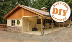 Cimarron barn! This barn is built with the same high quality components and materials as our horse barns in an economical way to meet your horses' needs. #DIY #woodbarn #dreambarn