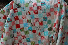 bliss postage stamp quilt. love. #quilt