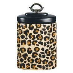 Leopard Print Cookie Jar!!!!!