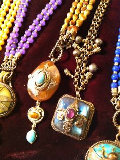 Vintage and semi-precious stone necklaces by Patrice.