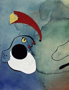 Joan Miró, Etoiles filantes de tetes, 1935 (1944) detail. Gouache on paper, 13 1Ž2 x 16 1Ž2 inches. Saltzman Family Collection © Successió Miró / Artists Rights Society (ARS), New York / ADAGP, Paris 2015.