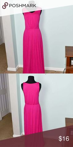 Cynthia Rowley Fuschia Maxi Dress with Pockets In excellent condition! Beautifully made, very silky soft, and stretchy! Perfect for spring! Buy 3 items and get 1 free plus 15% off your purchase total! Cynthia Rowley Dresses Maxi