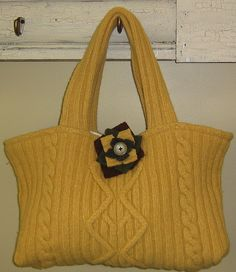 upcycled sweater purse       Click on the image for more info.  http://www.woodenpurses.com