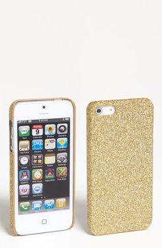 Gold glitter iphone 4 case.