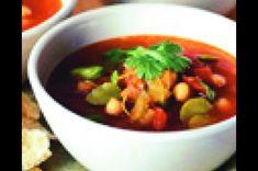 Marocká polévka z cizrny Chorizo, Chana Masala, Ethnic Recipes, Food, Red Peppers, Essen, Meals, Yemek, Eten