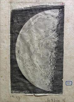 Claude Mellan (1598-1688), Pierre Gassendi (1591-1655) Tre carte della Luna, 1637 Abbeville, Musée Boucher de Perthes