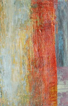 Abstract Painting Small Original Acrylic with Rust by Jimarieart