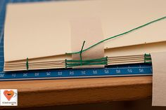 Step-by-step photos for bookbinding