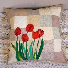 quilted pillow covers - Google Search