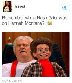 Nash Grier and Hannah Montana